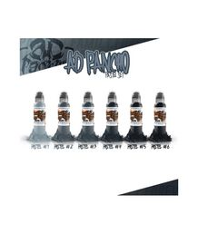 WORLD FAMOUS INK - A.D. PANCHO PASTEL GREY SET 6X30ML