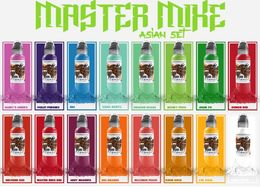 World Famous Ink - Master Mike Asian Colorset 16x30ml