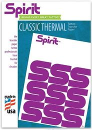 "Spirit Original Tattoo Thermal  Copier Paper - 8-1/2"" x 11"" 20pic"