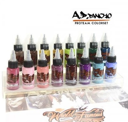 World Famous Ink - A.D. Pancho Pro Team Colorset 16x30ml