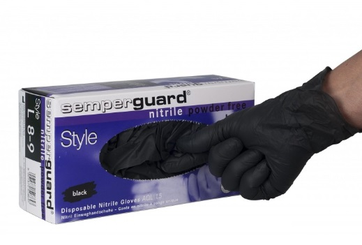 SemperGuard Black Nitrile Glove, 100pcs