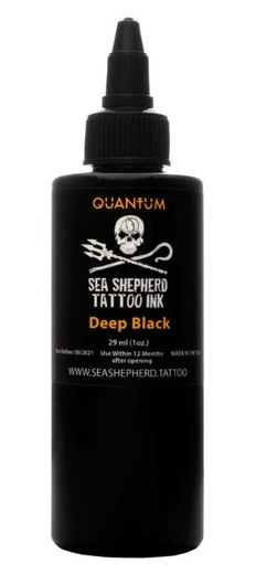Quantum Tattoo Ink Sea Shepherd - Deep Black 30ml
